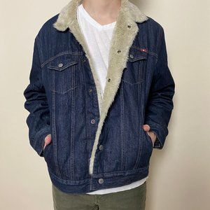 Lucky Brand Lakewood Denim Sherpa Jacket